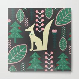 Traditional Christmas festival with fox Metal Print