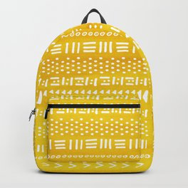 Yellow Boho Stripes Pattern Backpack