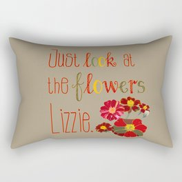 Just Look at the Flowers Lizzie Rectangular Pillow