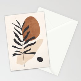 Abstract Art /Minimal Plant 12 Stationery Cards