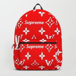 Supreme x Lv white Backpack