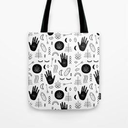 Witchy Patterns Tote Bag
