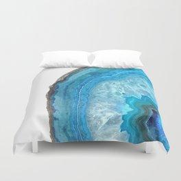 Druze blue agate Duvet Cover