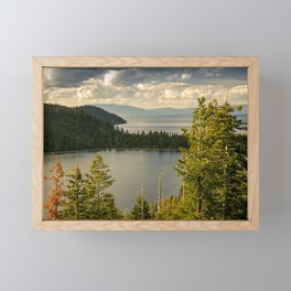 Emerald Bay, Lake Tahoe Framed Mini Art Print