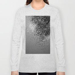 Sparkling Silver Gray Lady Glitter #1 #shiny #decor #art #society6 Long Sleeve T-shirt
