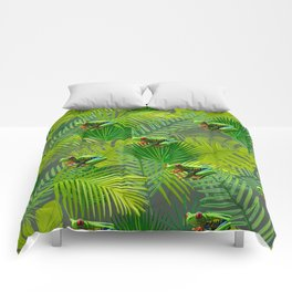 Frog Forest Comforters