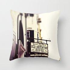 Absinthe House Throw Pillow