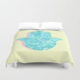water hamsa Duvet Cover