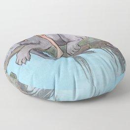 Bagheera & Mowgli Floor Pillow
