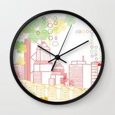 Crayon Portland Oregon Wall Clock