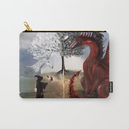 The Owl,Wizard,Unicorn and the Dragon Carry-All Pouch