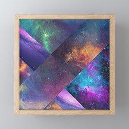 Galaxy Collage Framed Mini Art Print