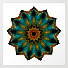encircled mandala Art Print