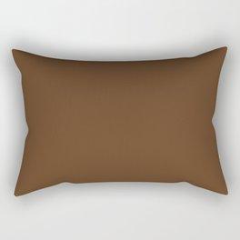 Chocolate - Tinta Unica Rectangular Pillow