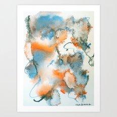 Colour Bursts-Part 1 Art Print