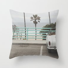 Cruisin Manhattan Beach Throw Pillow