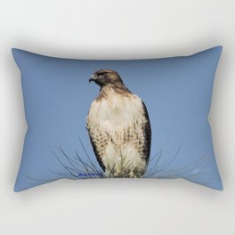 Red-Tailed Hawk on Watch at Foothill and B Street Rectangular Pillow