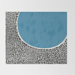 Abstract Blue Lake Throw Blanket