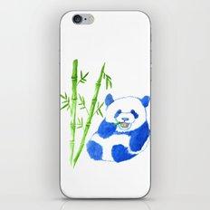 Panda eating bamboo Watercolor Print iPhone & iPod Skin