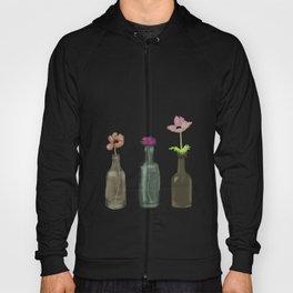 flowers in glass bottles . Pastel colors . artwork Hoody