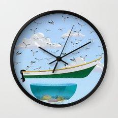 Boat and Birds Wall Clock
