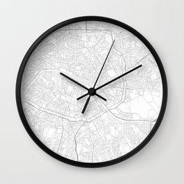 Paris, France Minimalist Map Wall Clock