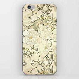 """Alphonse Mucha """"Peonies"""" iPhone Skin"""