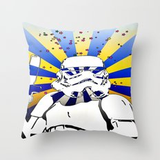 Psychedelic Trooper 2 Throw Pillow