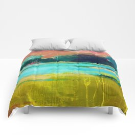 Lime and Turquoise Comforters