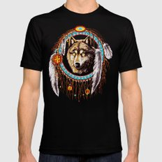 Indian Native Stark Clan Wolf Dream Catcher iPhone 4 4s 5 5s 5c, ipod, ipad, pillow case and tshirt Mens Fitted Tee Black 2X-LARGE