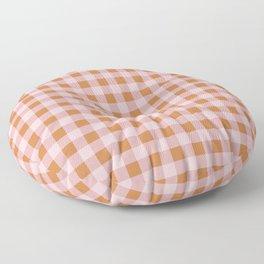 Gingham Pattern - Pink & Orange Floor Pillow
