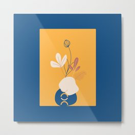 minimal floral art Metal Print