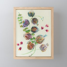 Elegant Floral Buds by Barbara Chichester Framed Mini Art Print