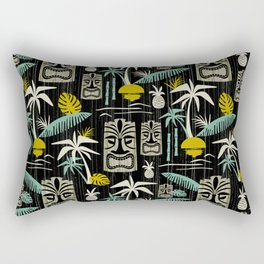 Island Tiki - Black Rectangular Pillow