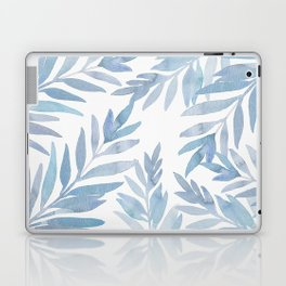 Muted Blue Palm Leaves Laptop & iPad Skin