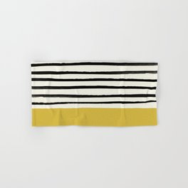 Mustard Yellow & Stripes Hand & Bath Towel