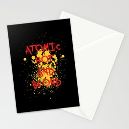 Atomic, hot and  Blond   Girl Power Stationery Cards