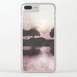 Positive Sunset Clear iPhone Case
