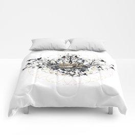 Crown and Birds Comforters