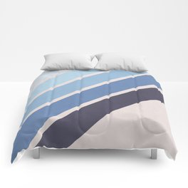 Blue Color Drift Comforters
