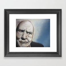 Elderly Man Framed Art Print