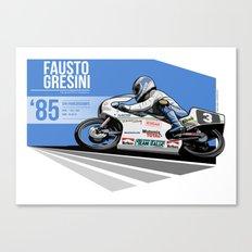 Fausto Gresini - 1985 Spa Canvas Print