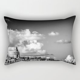 Istanbul: A Fusion of Black and White Rectangular Pillow