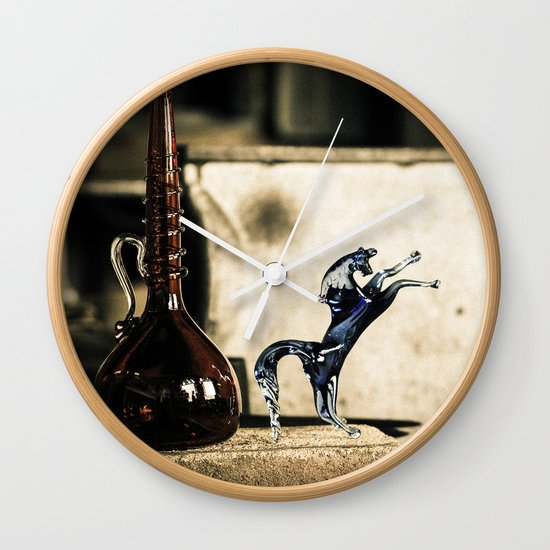 Horse of Glass, Italy Wall Clock