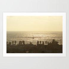 Sailboat - Marina del Rey, CA Art Print