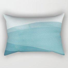 Watercolor Sea | Dip Dye Blues Rectangular Pillow