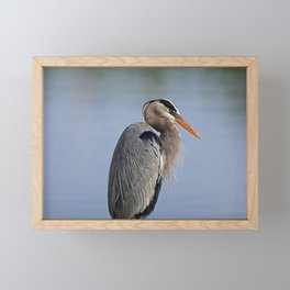Heron in the Slough I Framed Mini Art Print