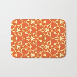 Bright Orange Geometrical Pattern Badematte