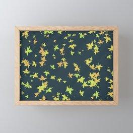 falling leaves 2 Framed Mini Art Print