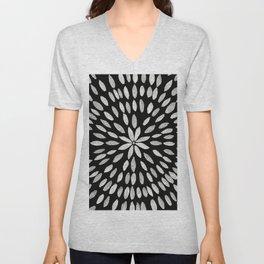 Mandala Flower #10 #bw #drawing #decor #art #society6 Unisex V-Neck
